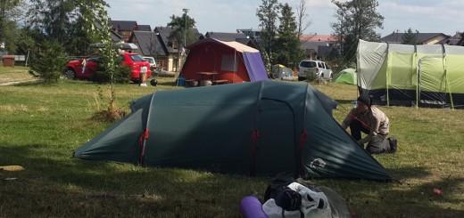 Палатка біля Татр